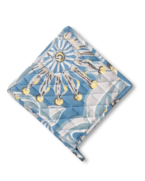 Pure Linen Pot Holder, Firewheel Sky