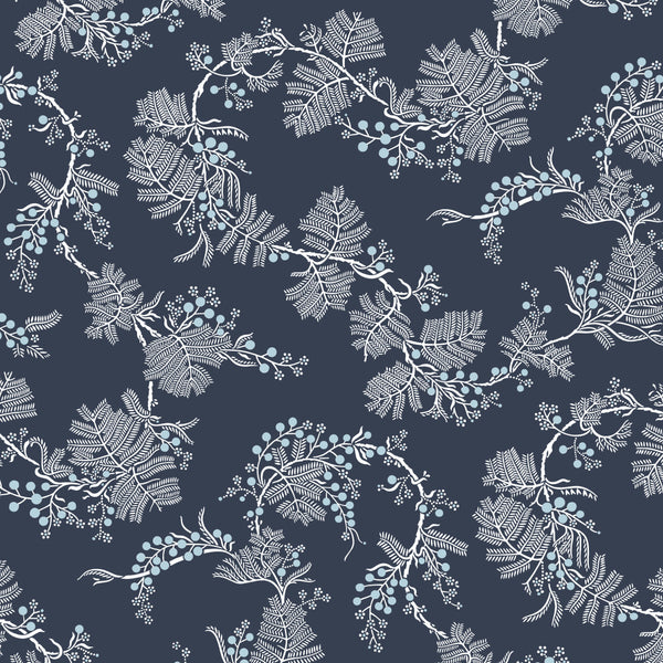 * Black Wattle Indigo Furnishing Linen