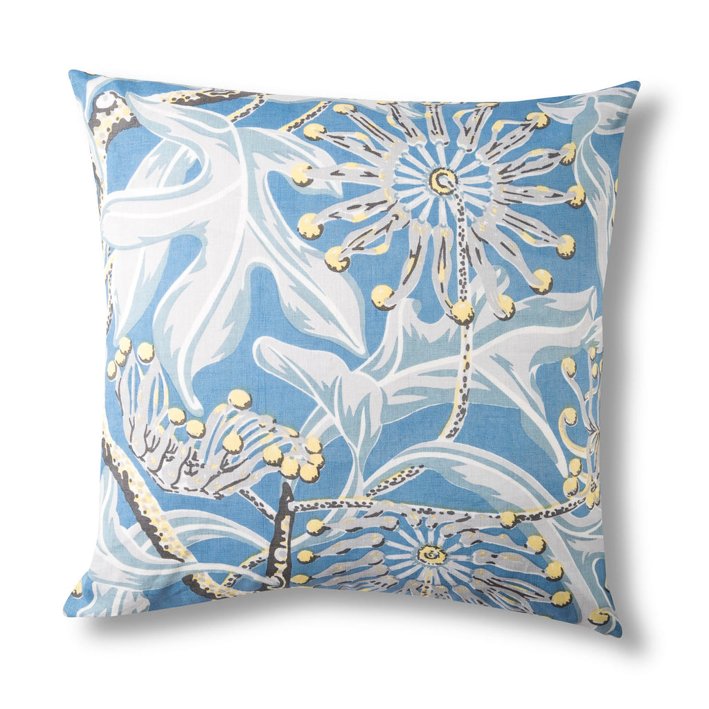 Pure Linen Cushion Cover, Firewheel Sky - 50x50cm