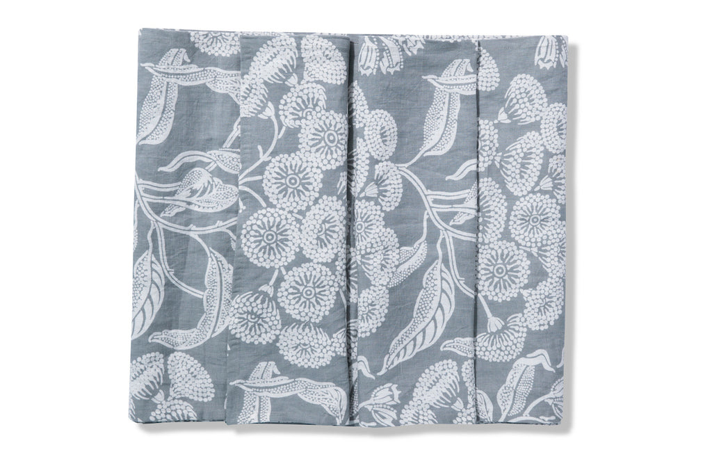 Angophora Grey Pure Linen Table Runner