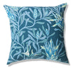 Mountain Devil Teal Pure Linen Cushion Cover 60x60