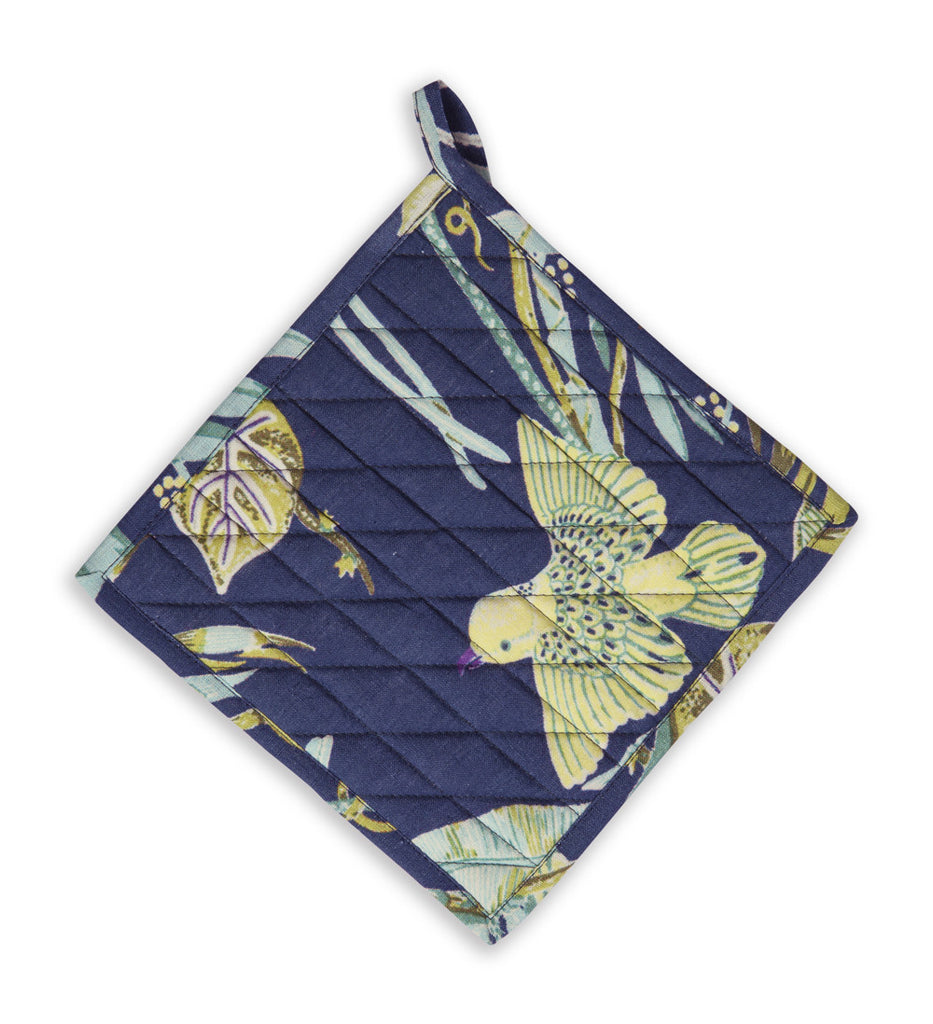 Linen Pot Holder, Paradise - Ultramarine