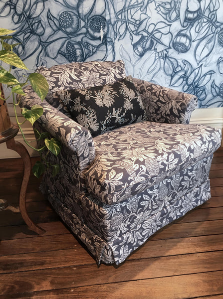 Banksia Denim Blue Swivel Tub Armchair