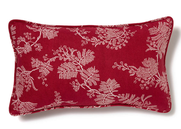 Wattle Raspberry Cushion Cover - 30 x 50