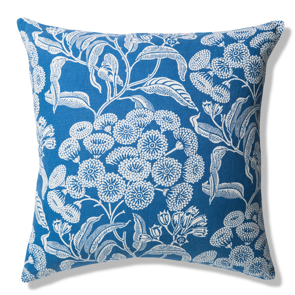 Angophora Blue Pure Linen Cushion Cover 50x50