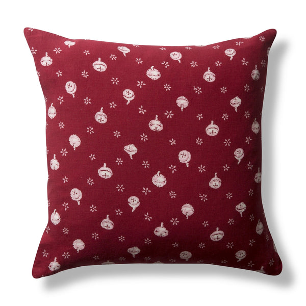 Pure Linen Cushion Cover, Polka Nut - Red, 50x50cm
