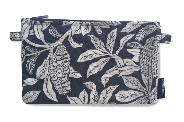 Banksia Denim Pure Linen Mini Pouch