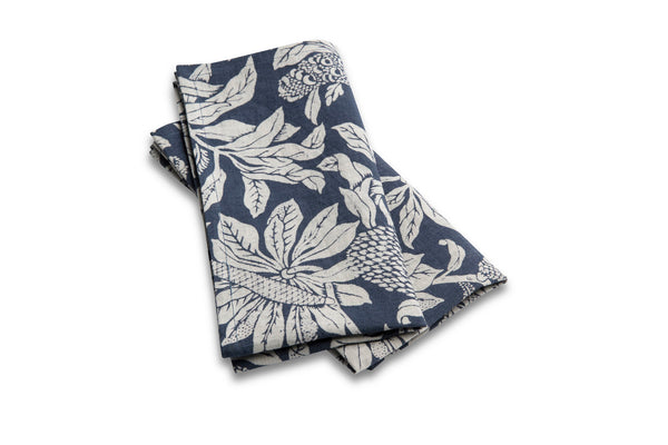 Pure Linen Napkin Set, Banksia Denim Blue