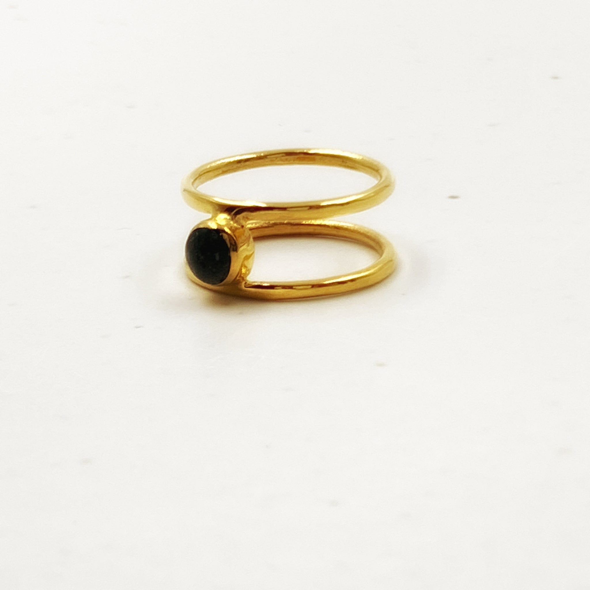 Pebble Double Band Ring