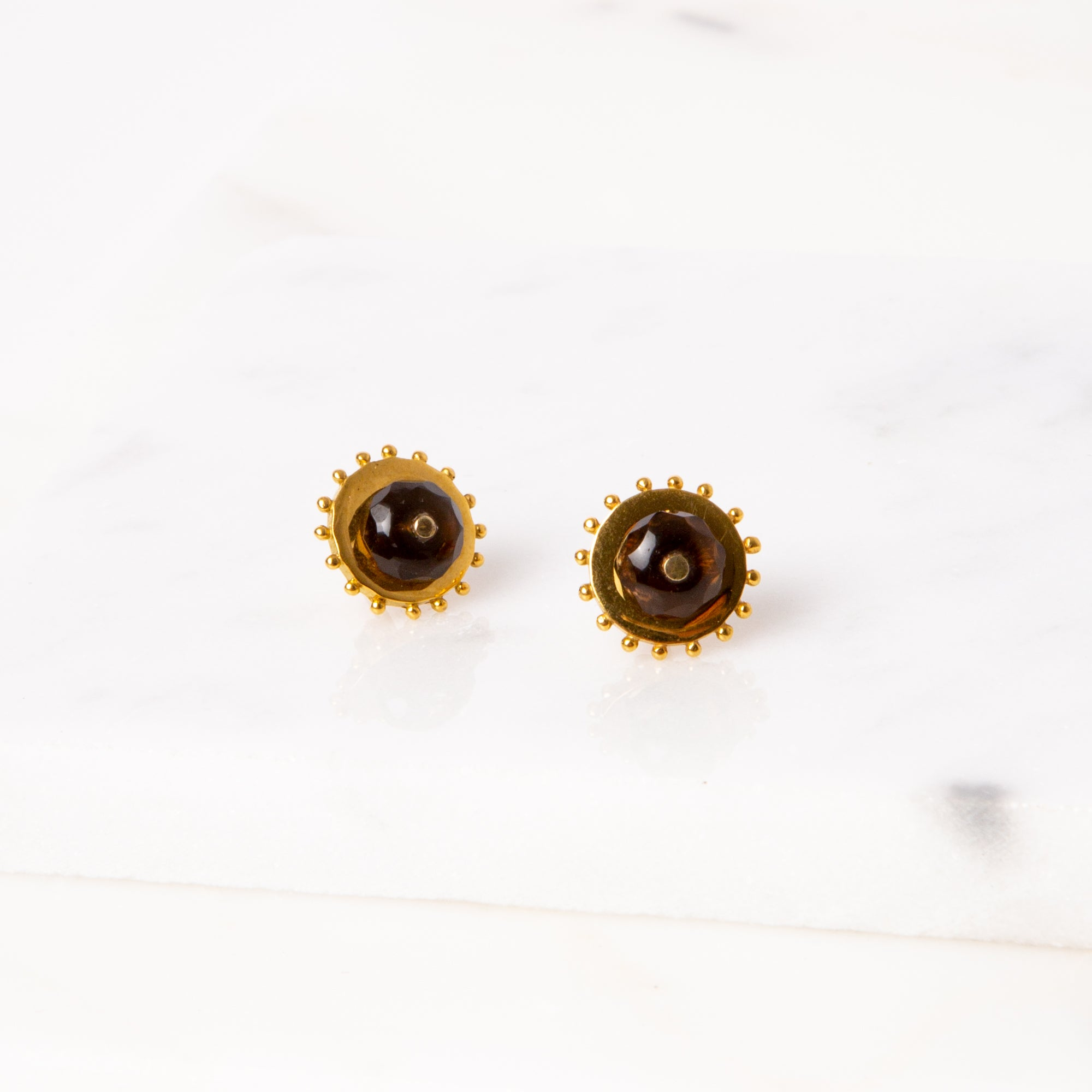 Two-Way Earrings / Smokey Quartz