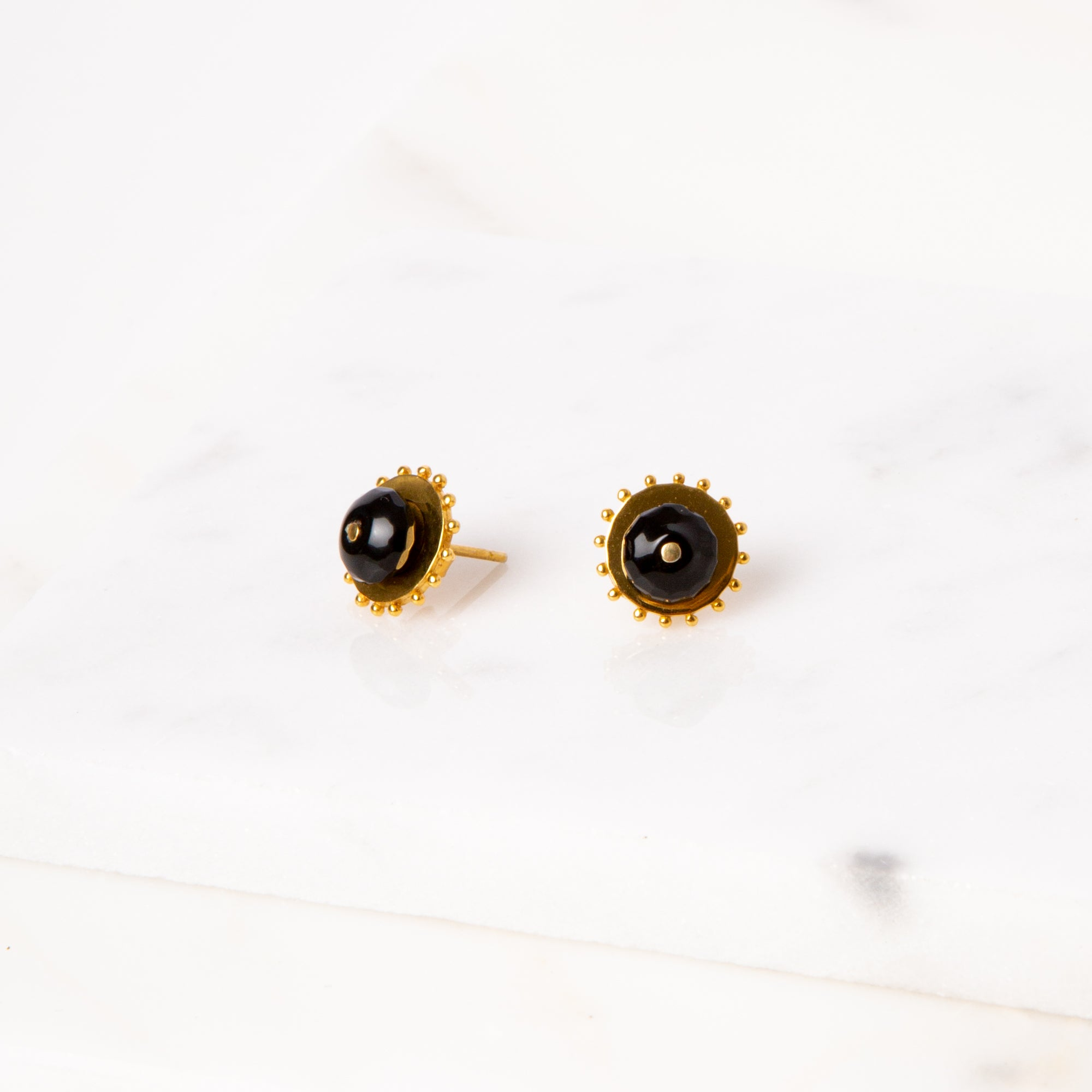 Two-Way Earrings / Onyx