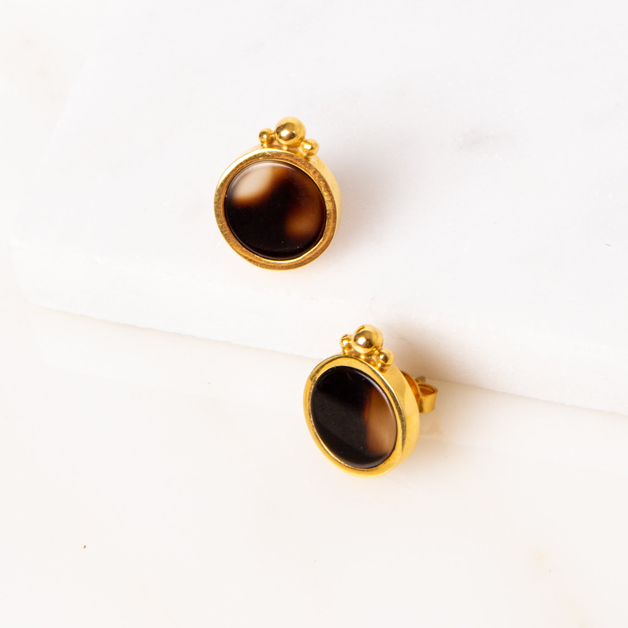 Onyx Bolita Earrings