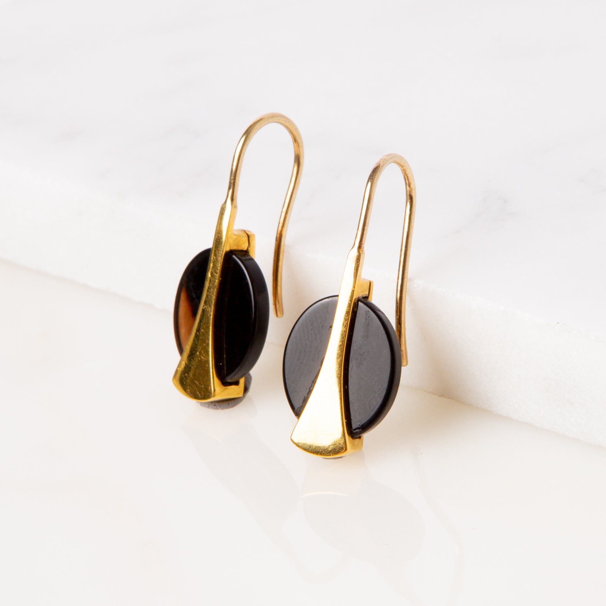 Onyx Sling Earrings