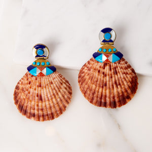 Natural Shell Earrings / Royal Oak