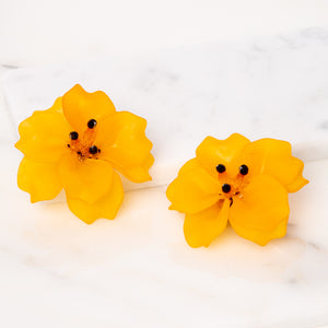 Fleur Earrings / Saffron Matte