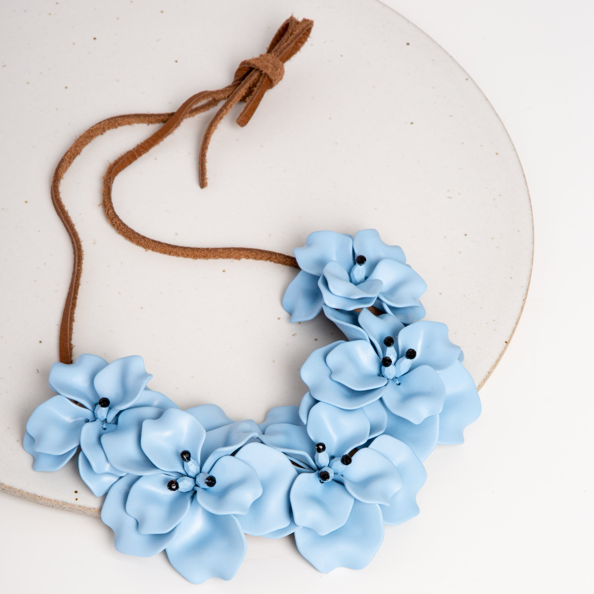 Fleur Necklace / Powder Blue