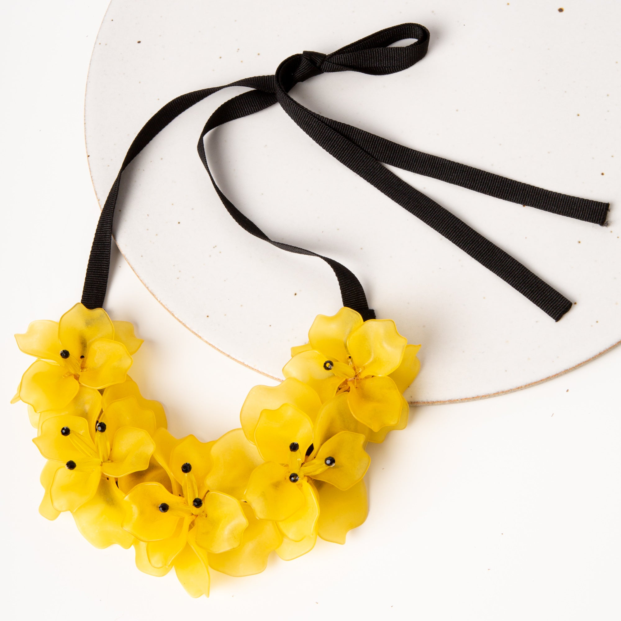 Fleur Necklace / Yellow