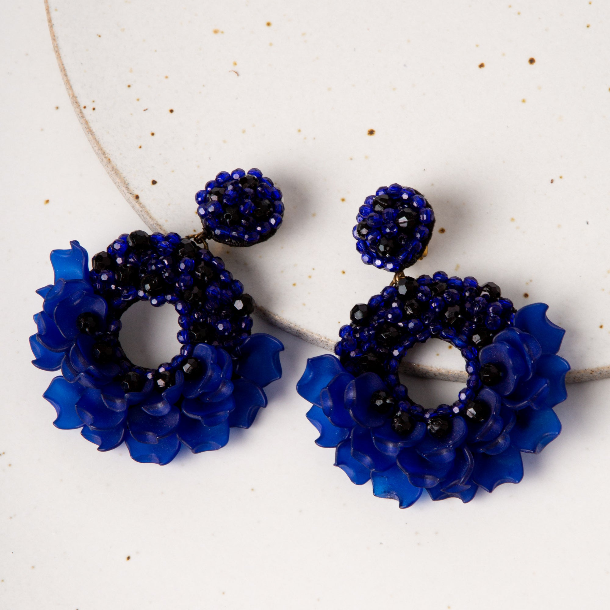 Dancing Lady Earrings / Blue