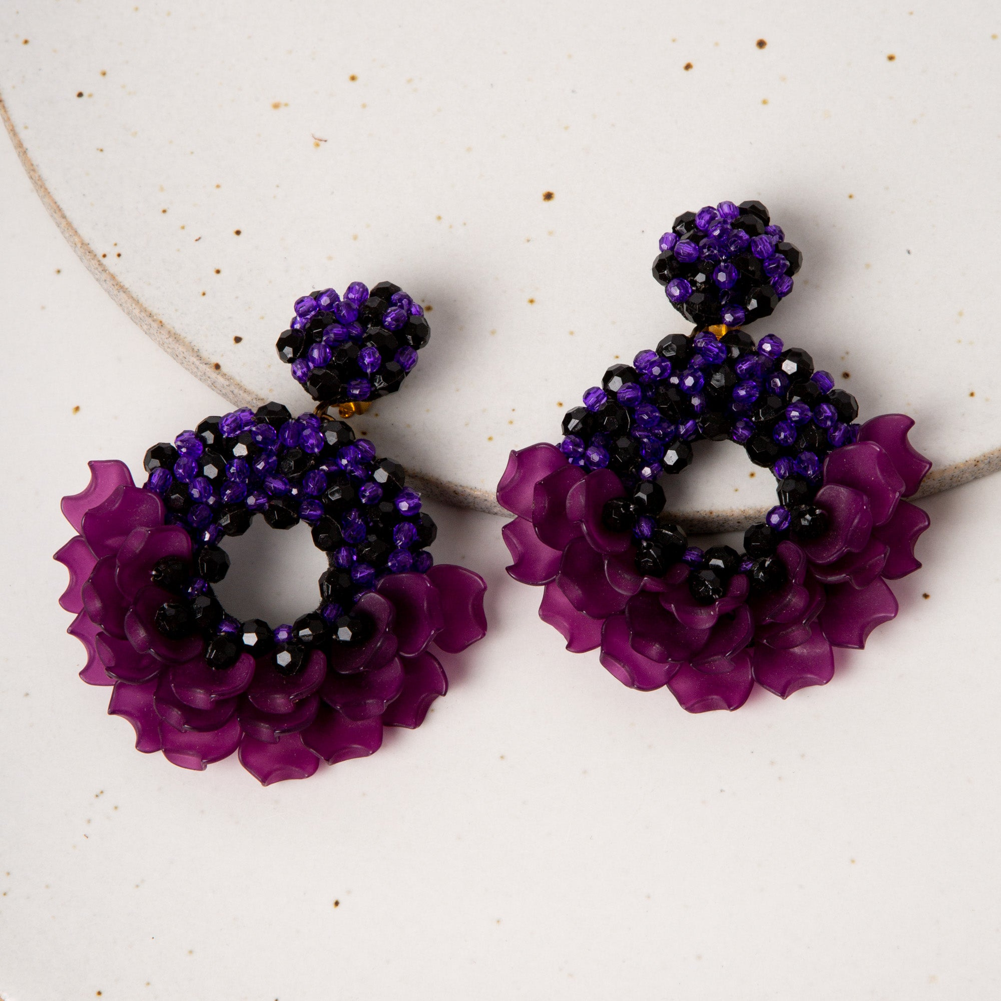 Dancing Lady Earrings / Purple