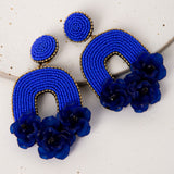 Flora Belle Earrings / Azure