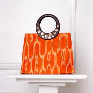 Cecilia Ikat Handbag / Orange