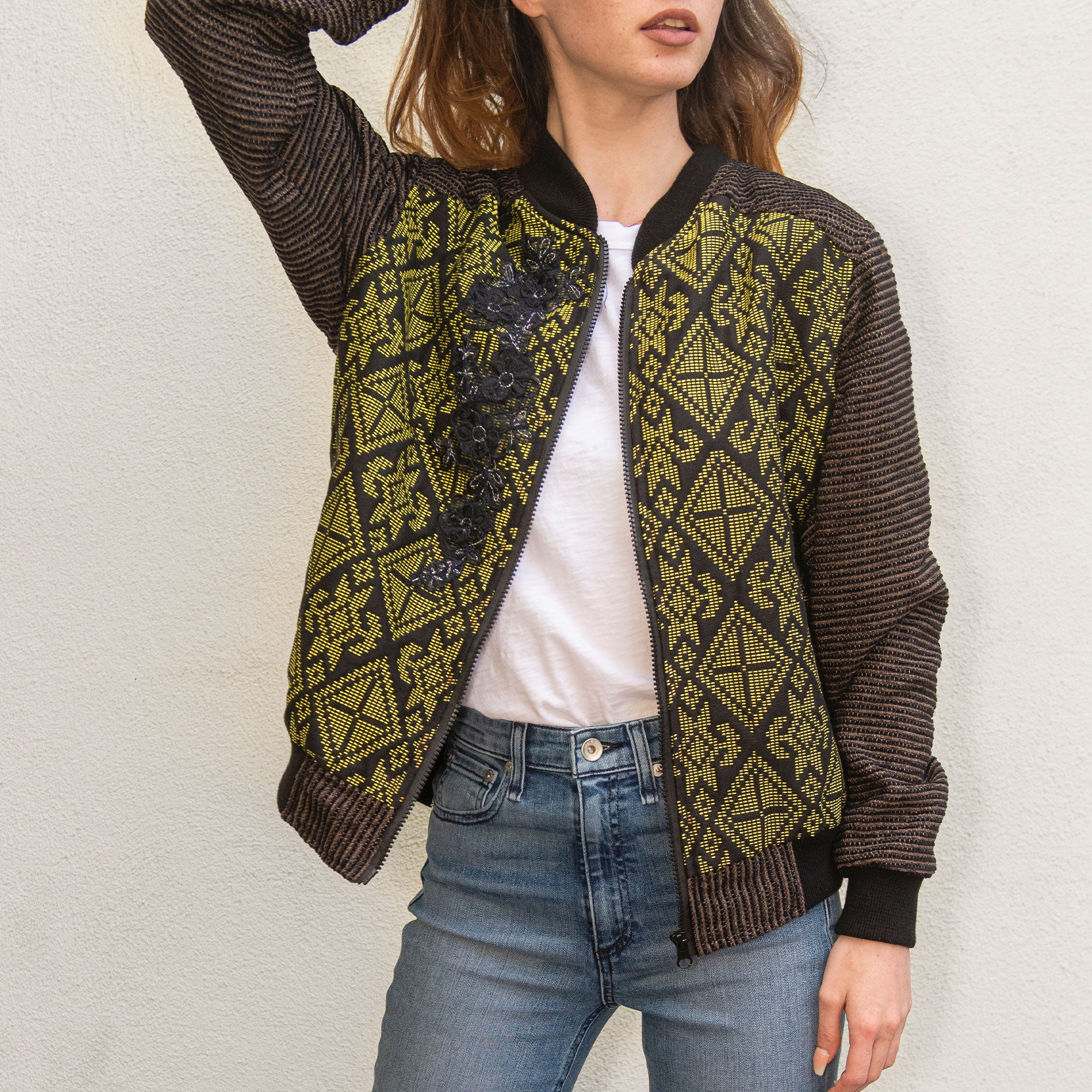 Victoria Yakan Jacket / Chartreuse / Large