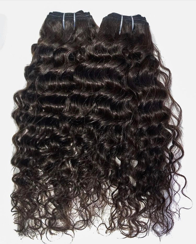 Raw Indian Curly Hair Extensions-Temple Hair