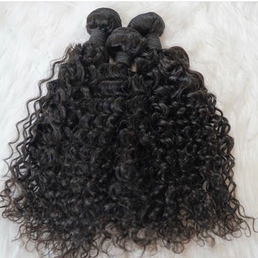 Raw Indian Curly Hair Bundle Deal-Temple Hair