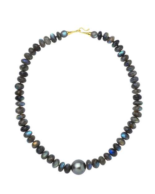Round Faceted Labradorite Necklace