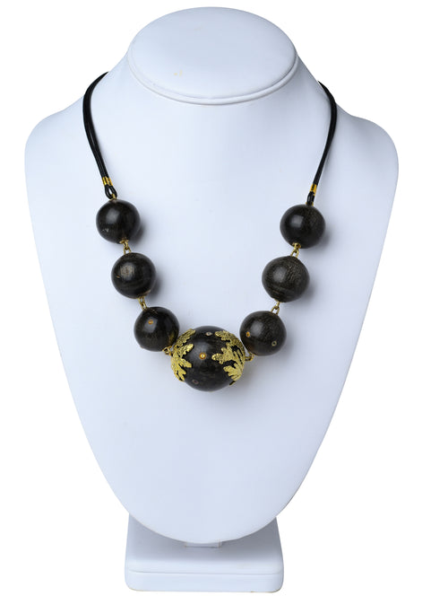 Embellished Horn Ball Necklace