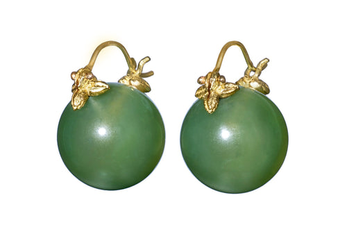 Green Jade Flyer Earrings