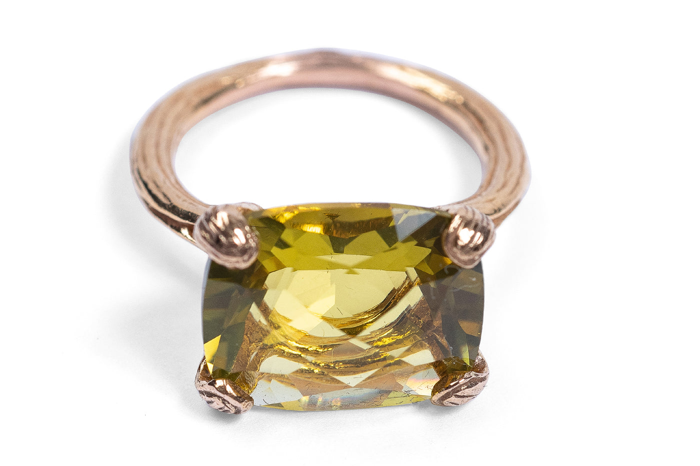 Olive Citrine Ladies ring