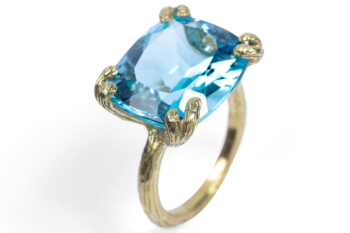 Blue Topaz Cocktail Ring