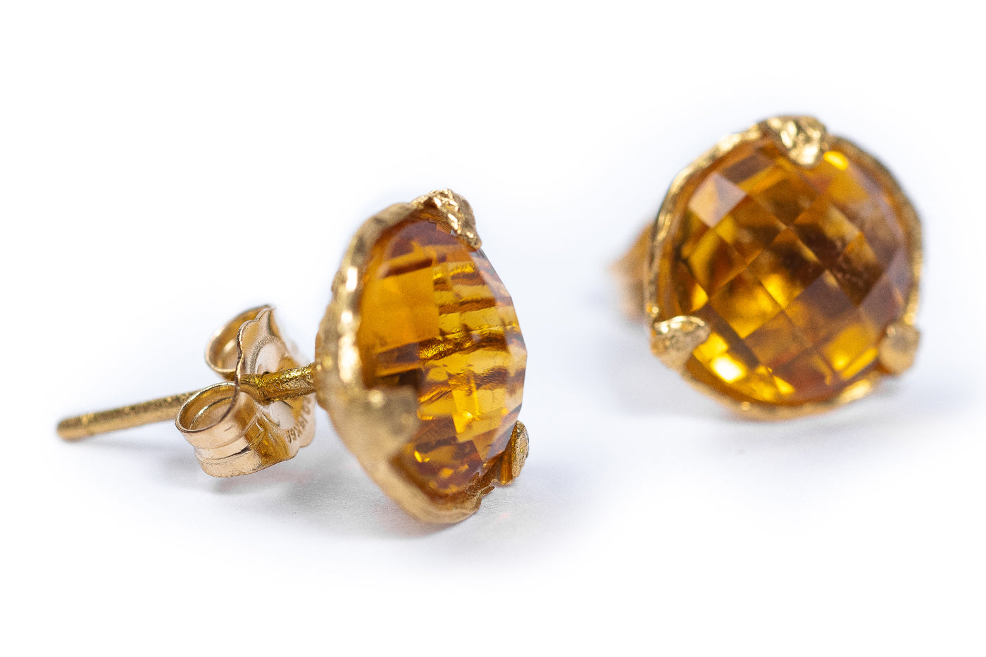 Citrine Stud Earrings