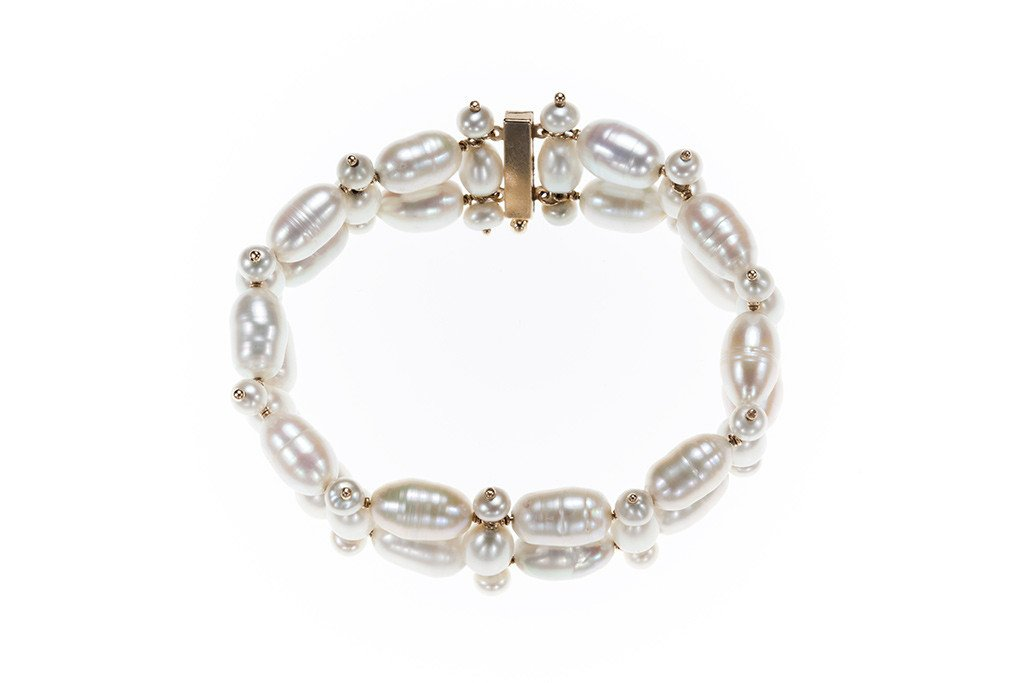 Double Ladder Pearl Bracelet