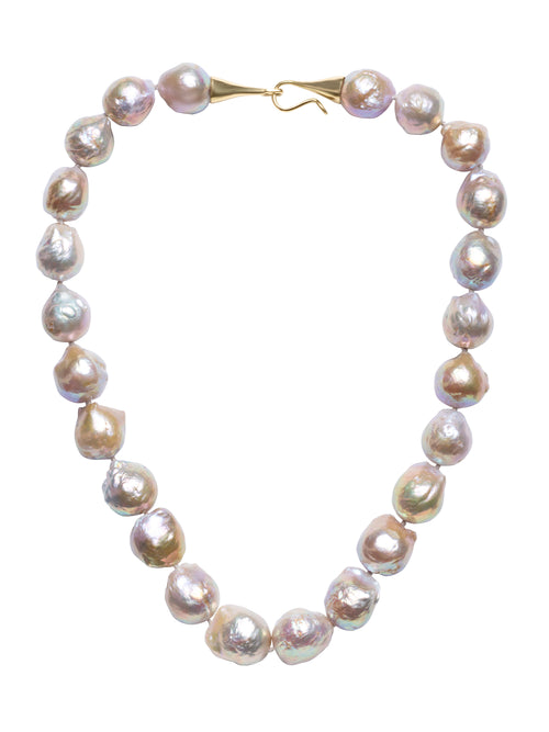Pale Beige Baroque Freshwater Pearl Necklace