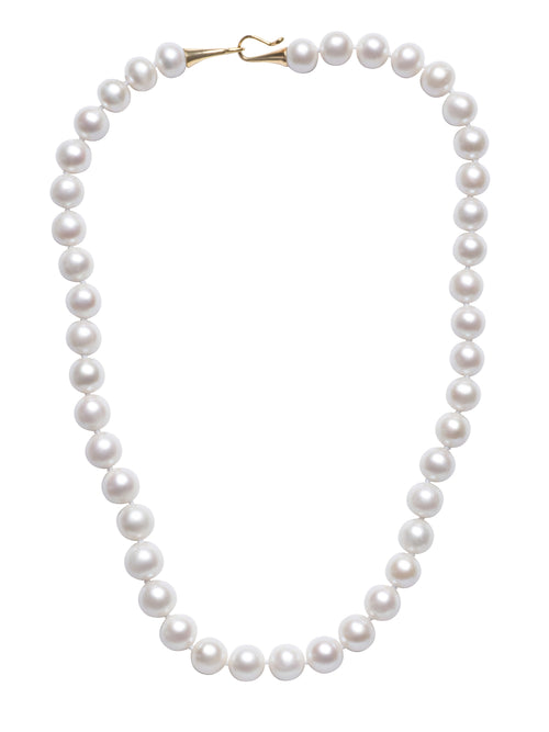 Round White Freshwater Pearl Necklace