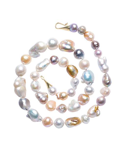 Multi-shape South Sea Pearl Necklace