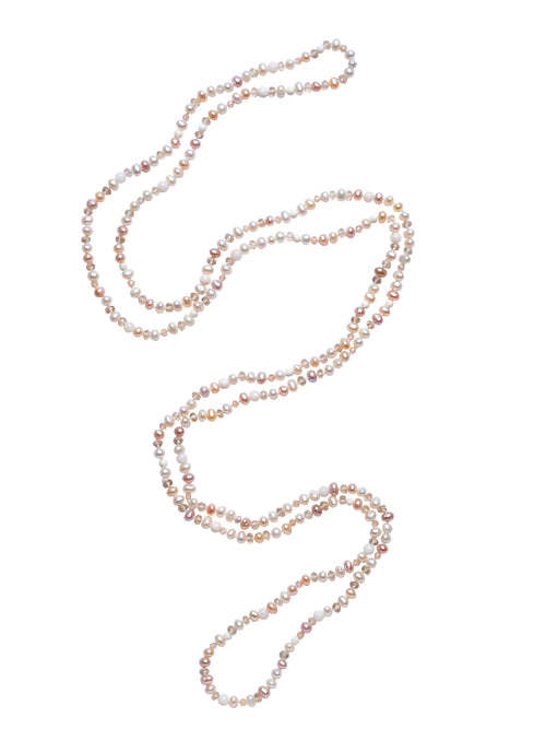"Multi-colored 46"" Freshwater Pearl Necklace"