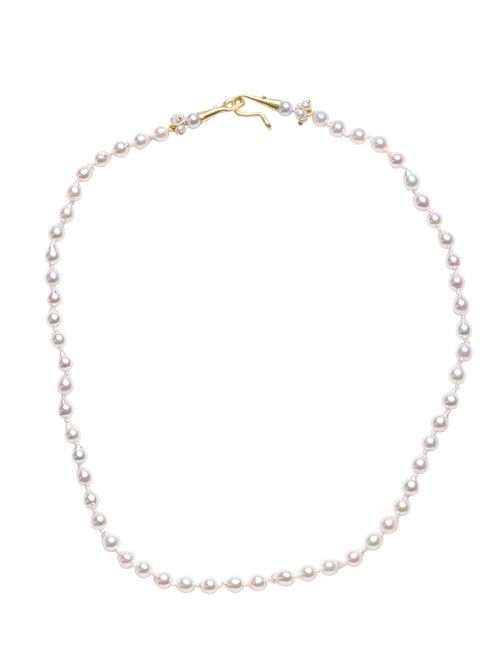 Japanese Baby Baroque White Pearls Necklace