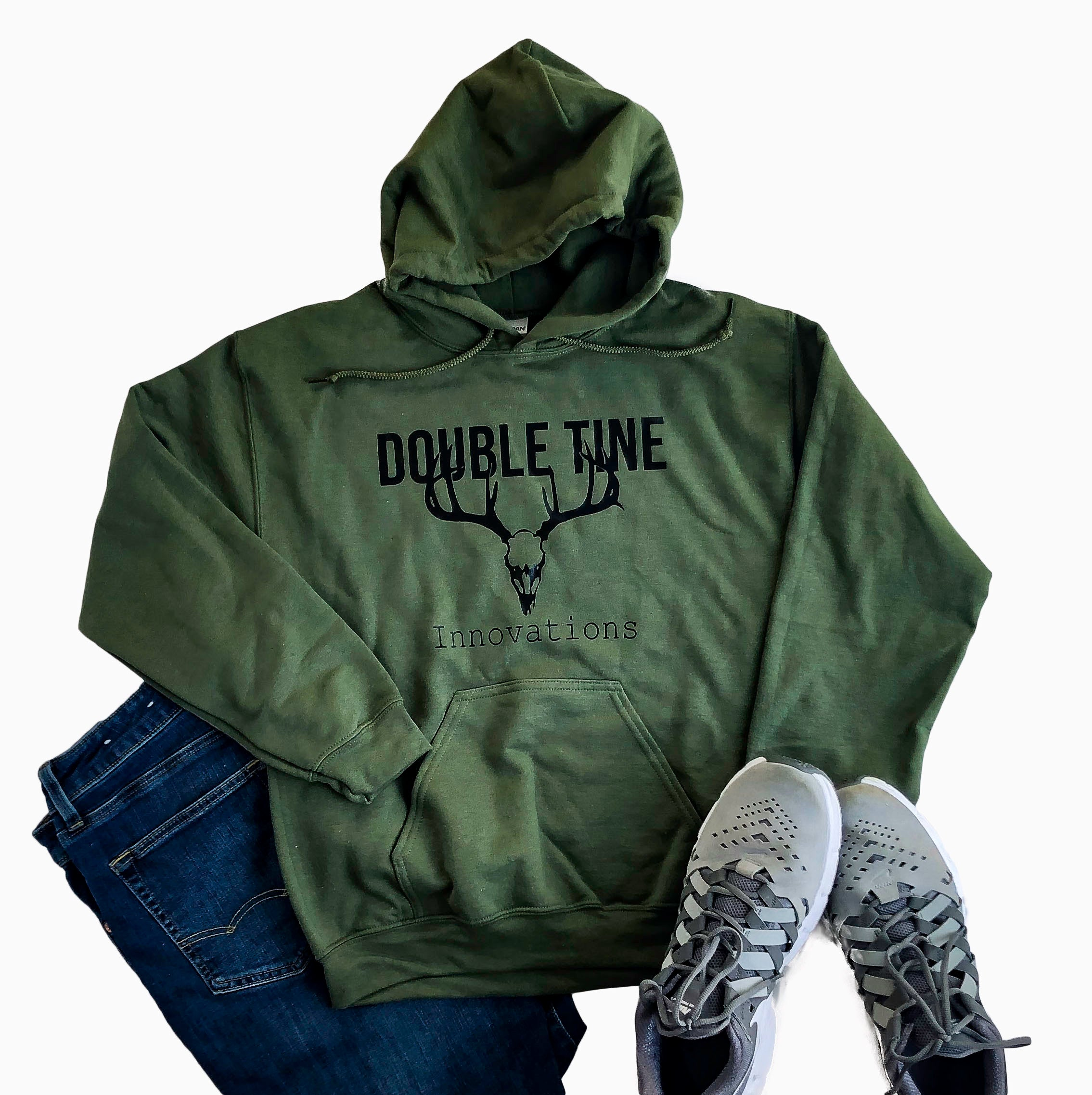 Military Green Double Tine Sweatshirt - Double Tine Innovations