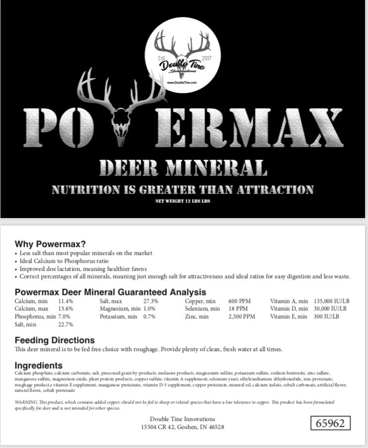 Powermax Deer Mineral - Double Tine Innovations