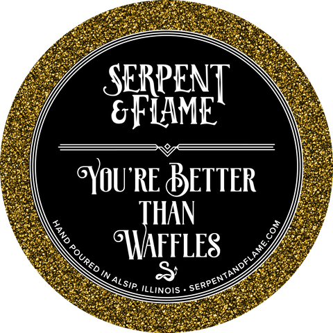 You're Better Than Waffles Candle, Waffles Chocolate Cookies