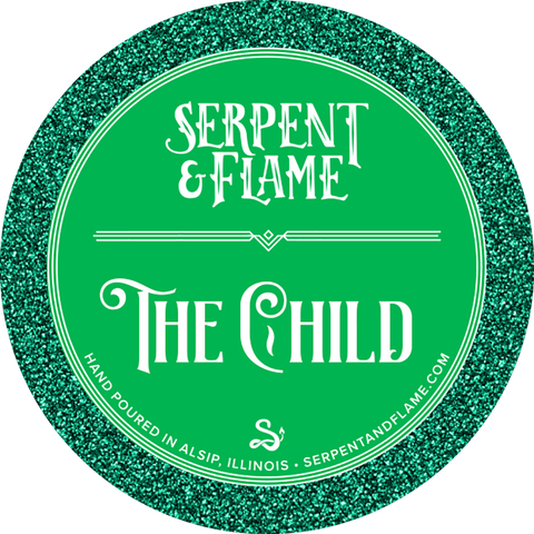 The Child Candle, Lime Peach White Tea