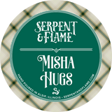 Misha Hugs Candle, Cedar Sweet Grass Dirt