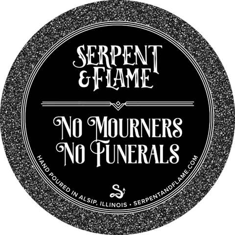 No Mourners No Funerals Candle, Icy Waters Tulips