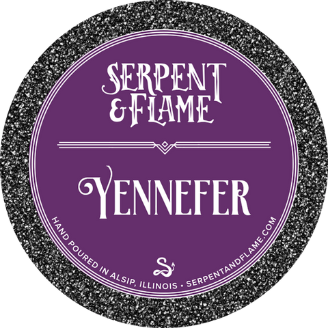 Yennefer Candle, Gooseberries Lilac