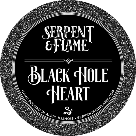 Black Hole Heart Candle, Succulents Open Air