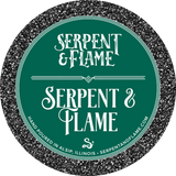 Serpent & Flame Candle, Campire Ash Petrichor