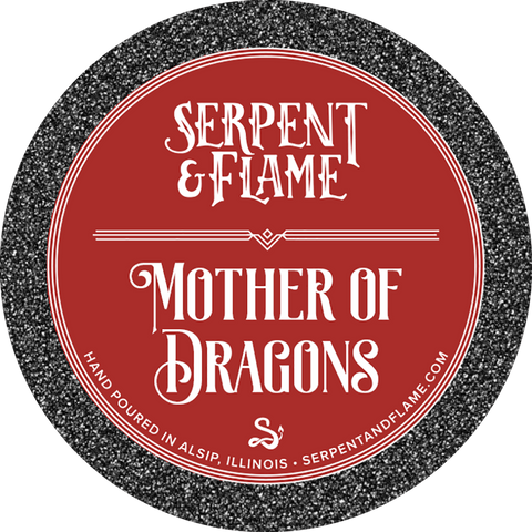 Mother of Dragons Candle, Burnt Sugar Cinnamon Currant Raisin